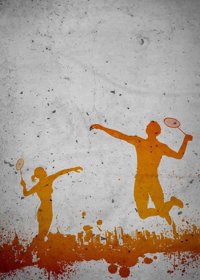 Badmintonhintergrund lizenzfreies stockbild