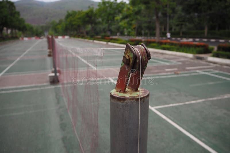 Badmintonhof stock afbeelding