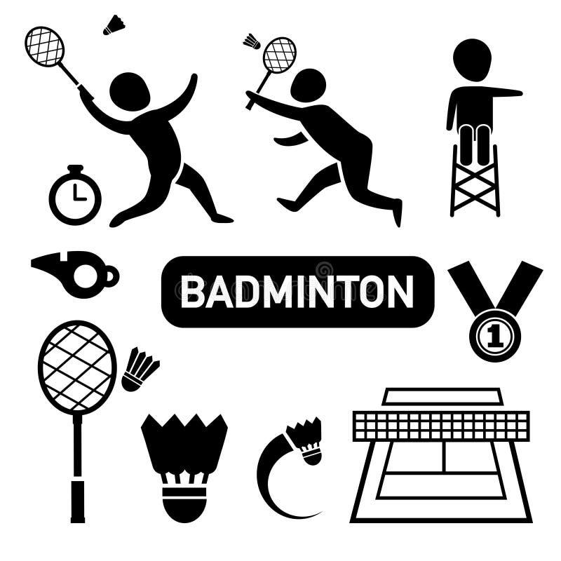 Badmintonikone stock abbildung