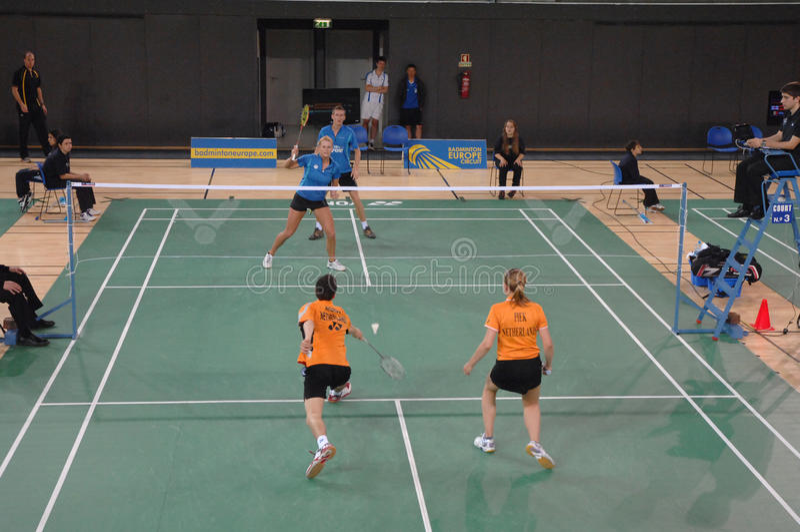badmintonmästerskap royaltyfri foto