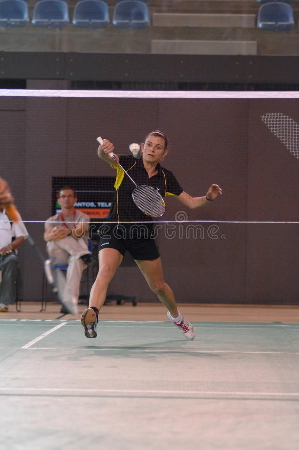 Badmintonmeisterschaft lizenzfreie stockfotos