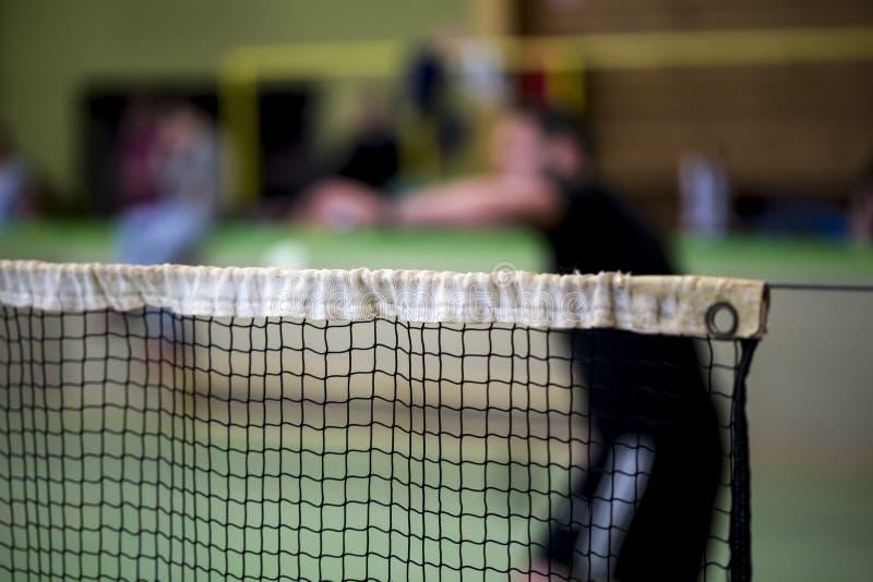 Badmintonnettohintergrund stockfotografie