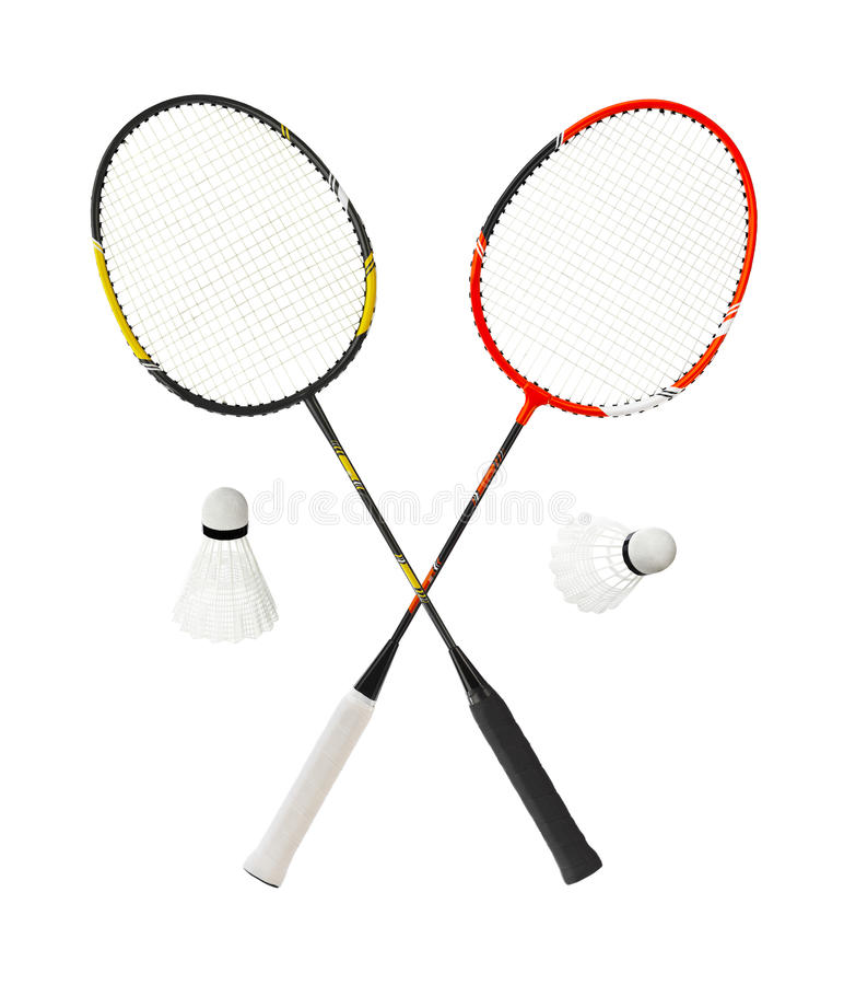 Badmintonracket stock afbeelding
