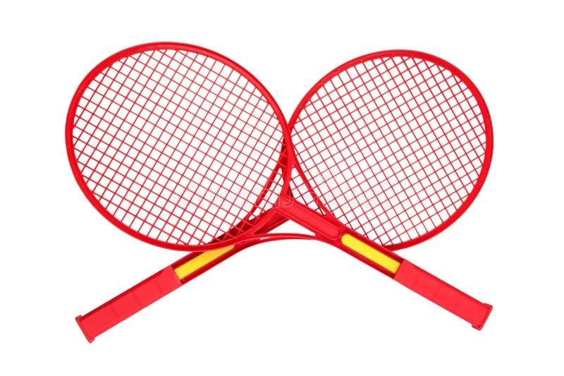 Badmintonracket på vit arkivfoto