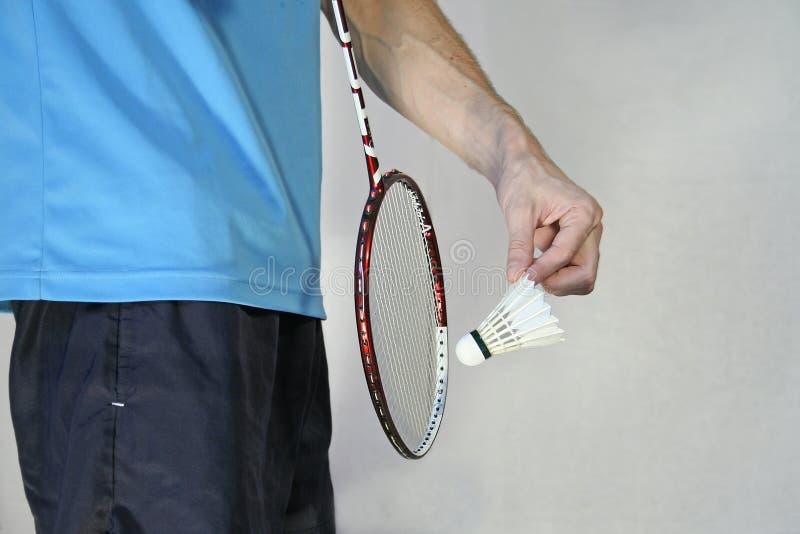 badmintonserve arkivfoto