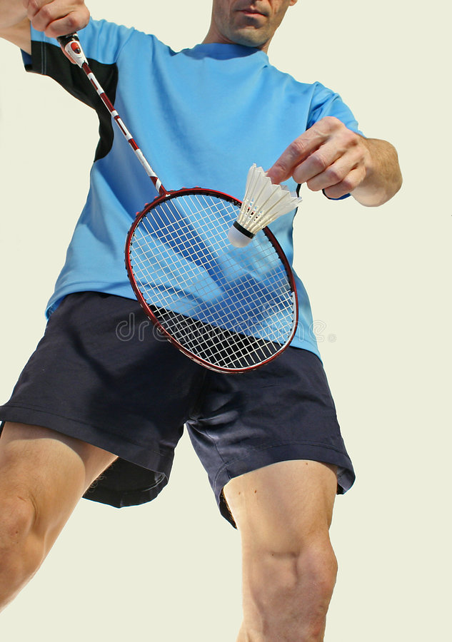 Badmintonservice stockfotos