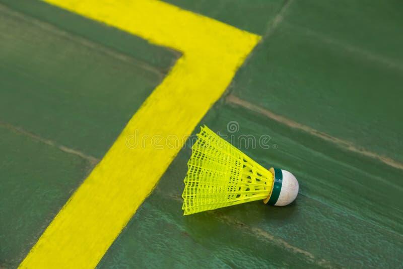Badmintonshuttle royalty-vrije stock afbeeldingen