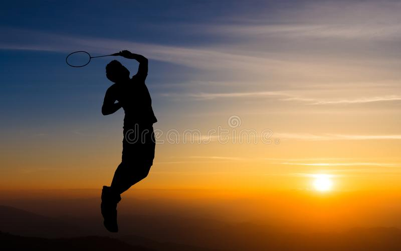 Badmintonspelare fotografering för bildbyråer