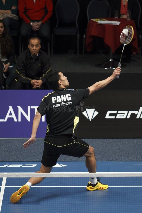 Badmintonspeler Eric Pang royalty-vrije stock foto's