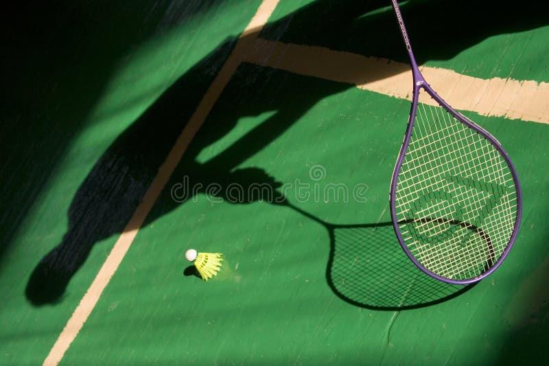 Badmintonspiel stockbild