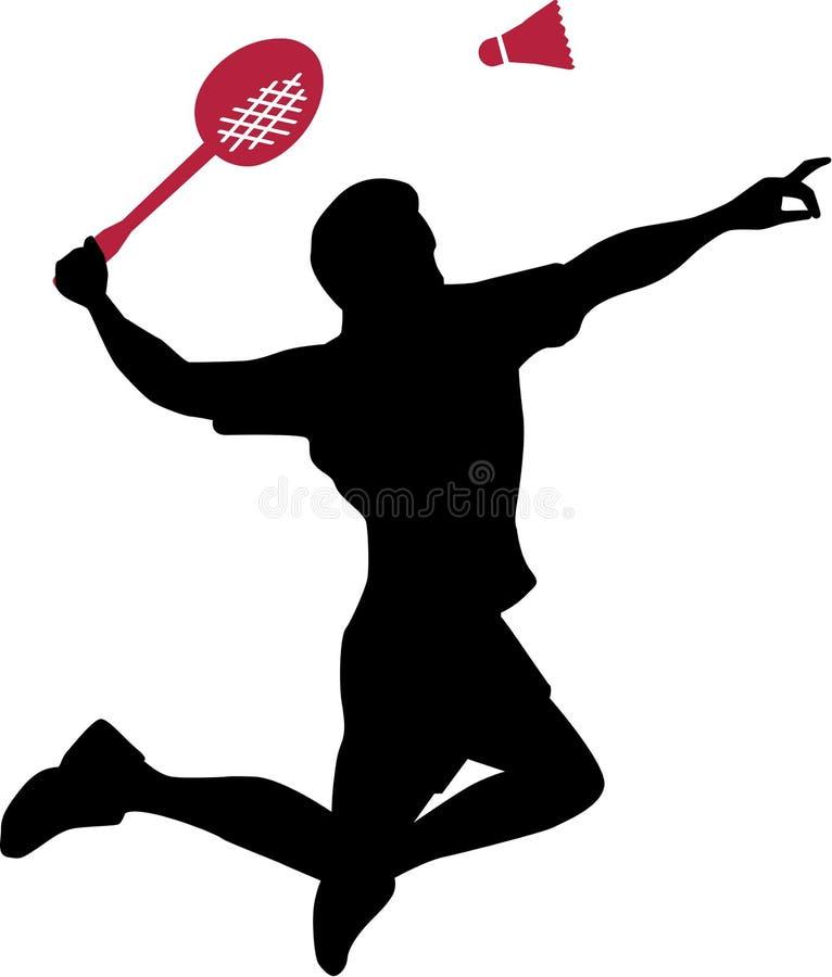 Badmintonspieler stock abbildung
