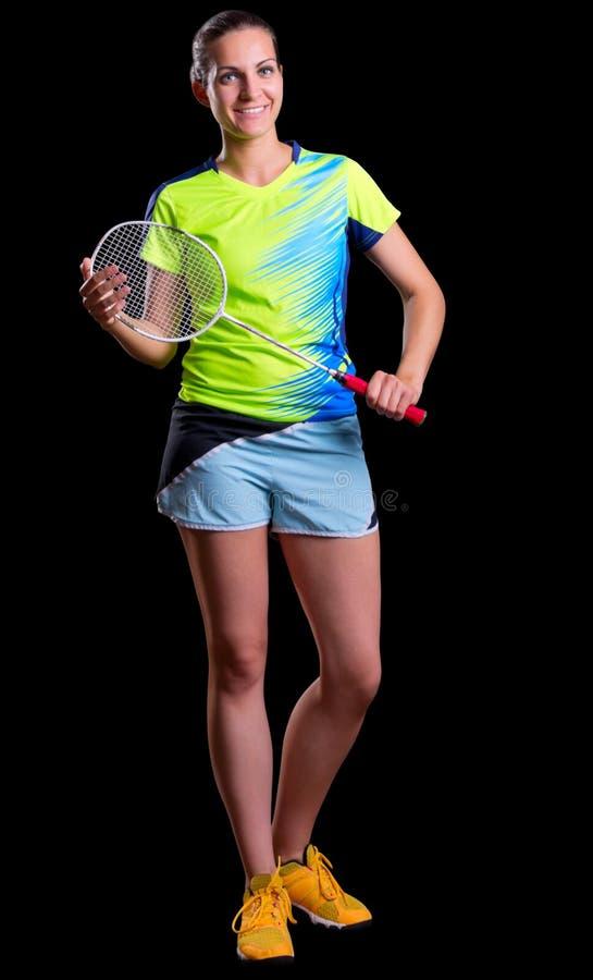 Download Badmintonspieler Der Jungen Frau Stockfoto - Bild von kleidung, fachmann: 96930884
