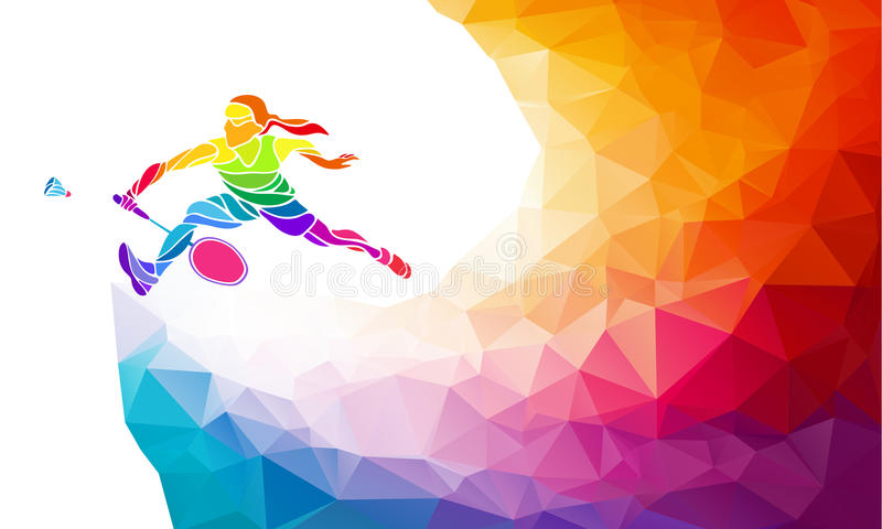 Badmintonsporteinladungsplakat oder -flieger stock abbildung