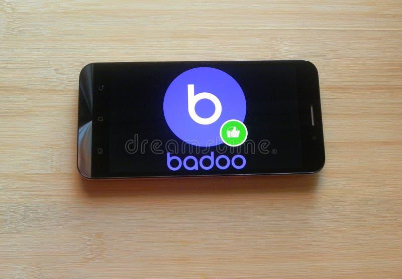 Badoo app royalty-vrije stock foto