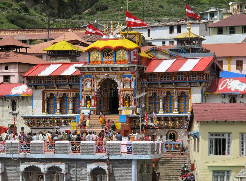 Badrinath Tempal stock image
