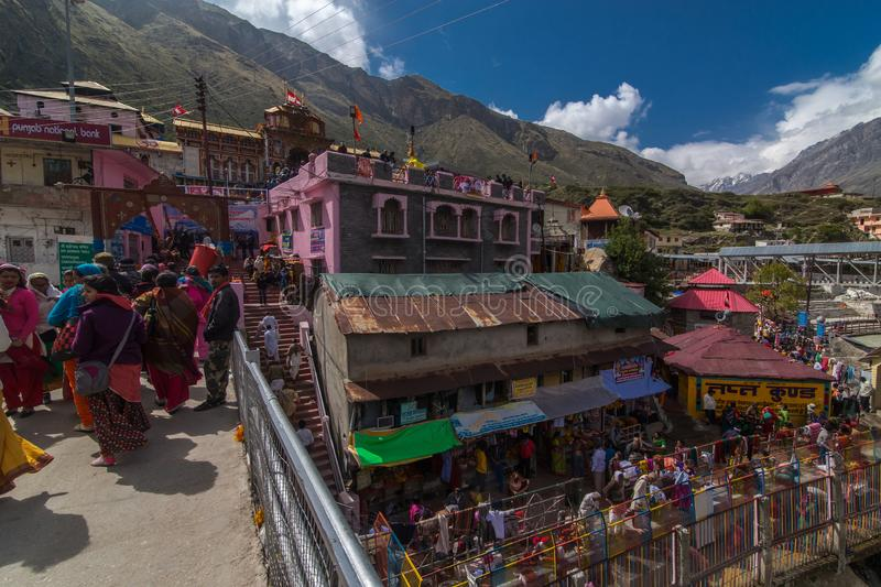 Badrinath Temple With Taptkund royalty free stock photo