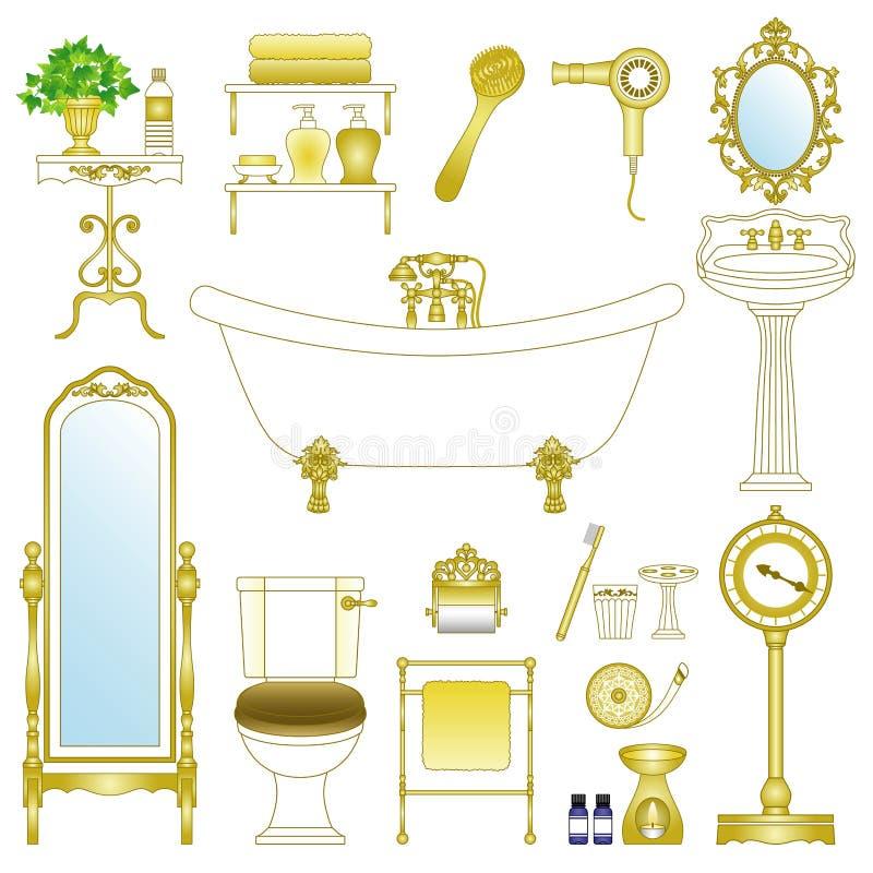 badrum stock illustrationer