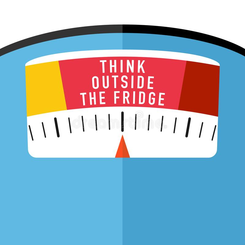 Badrumgolvskala med idé för viktförlust royaltyfri illustrationer