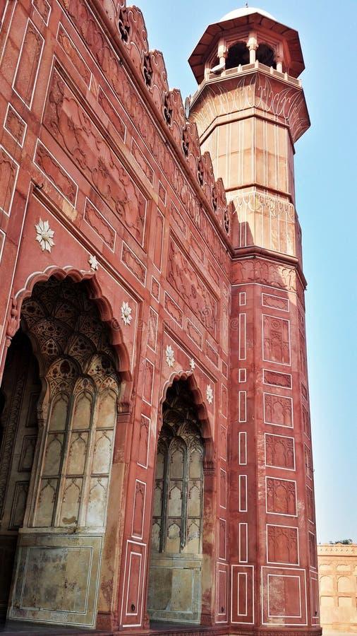 Badshahi清真寺在拉合尔 库存照片