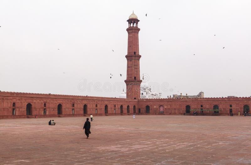 Badshahi清真寺在巴基斯坦 免版税库存图片