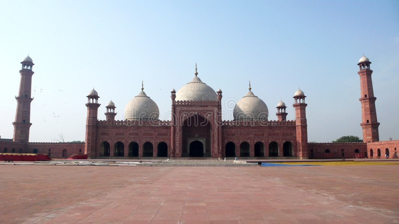 Badshahi masjid lizenzfreies stockfoto