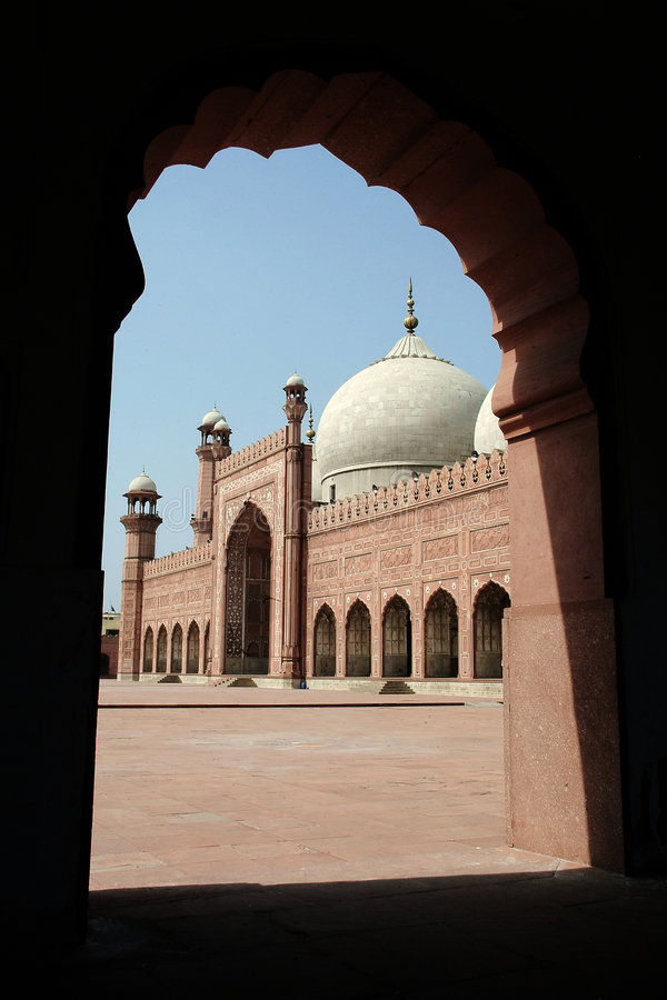 Badshahi masjid stockbilder