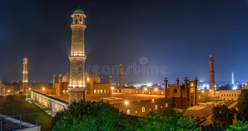 Badshahi Masjid Lahore, Punjab Pakistan lizenzfreies stockbild