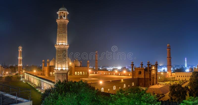 Badshahi Masjid Lahore, Punjab Paquistán imagen de archivo libre de regalías