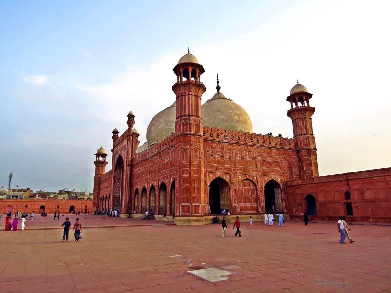 Badshahi meczet w Lahore, Pakistan obraz royalty free