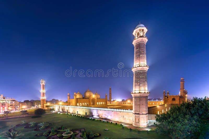 Badshahimoskee Lahore Pakistan royalty-vrije stock afbeelding