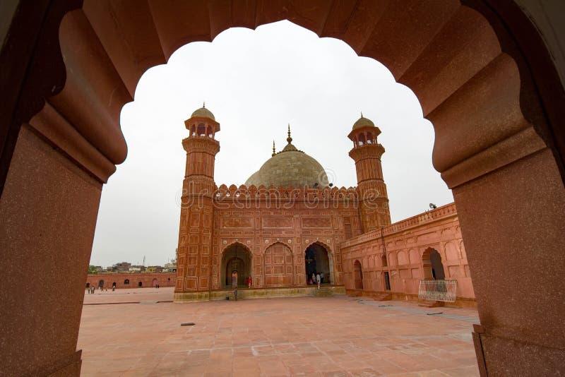 Badshahimoskee, Lahore, Pakistan stock afbeelding