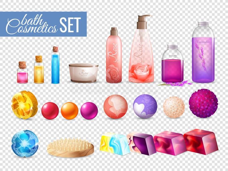 Badskönhetsmedel som förpackar samlingen royaltyfri illustrationer