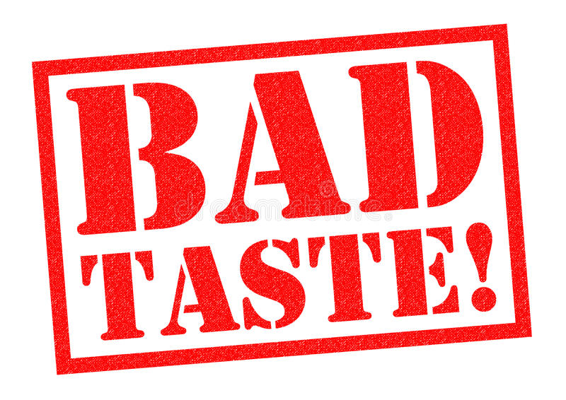 BADT TASTE!. BAD TASTE! red Rubber Stamp over a white background stock illustration