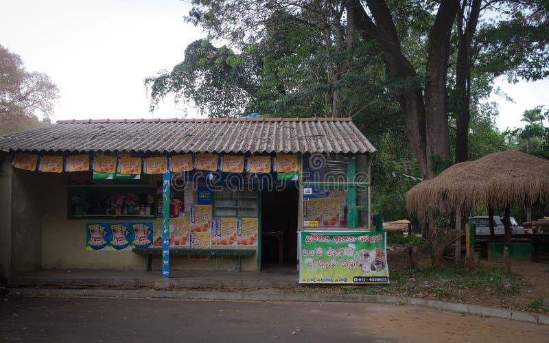 He local store in the Badulla City, Sri Lanka. One of the route to Ella City, Sri Lanka. BADULLA / SRI LANKA - AUGUST 09, 2019:  The local store in the Badulla royalty free stock photos