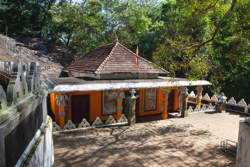 Dhowa Raja Maha Viharaya temple, Sri Lanka. Badulla,Sri Lanka - January 27,2019: Dhowa Raja Maha Viharaya temple, Sri Lanka. The temple has gain popularity stock image