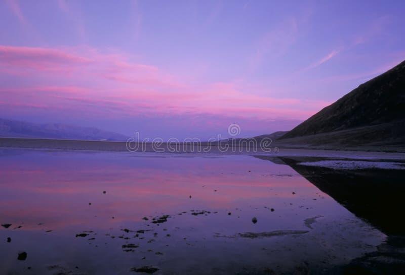 badwater świt fotografia stock