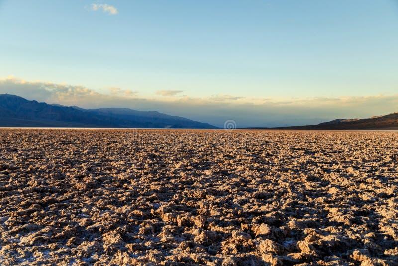 Badwater - κοιλάδα θανάτου στοκ εικόνες με δικαίωμα ελεύθερης χρήσης