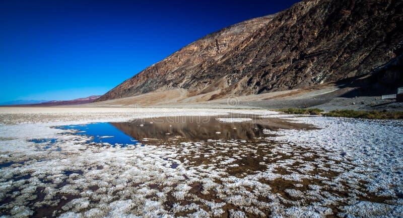 Badwater Basenowy Śmiertelny Dolinny park narodowy Kalifornia zdjęcie stock