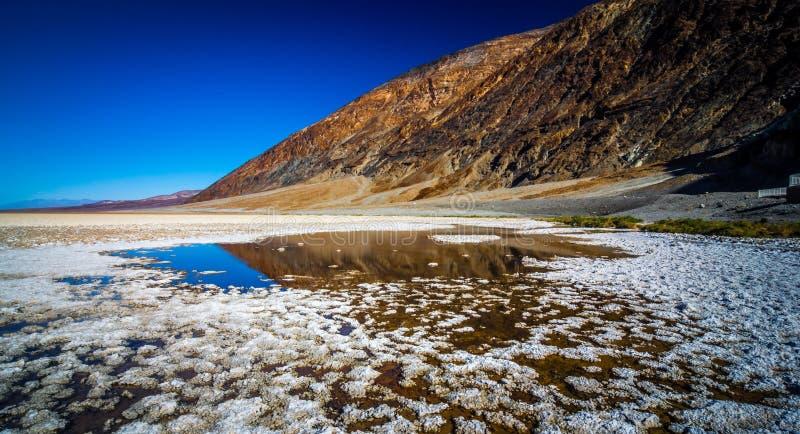 Badwater Basenowy Śmiertelny Dolinny park narodowy Kalifornia obraz stock