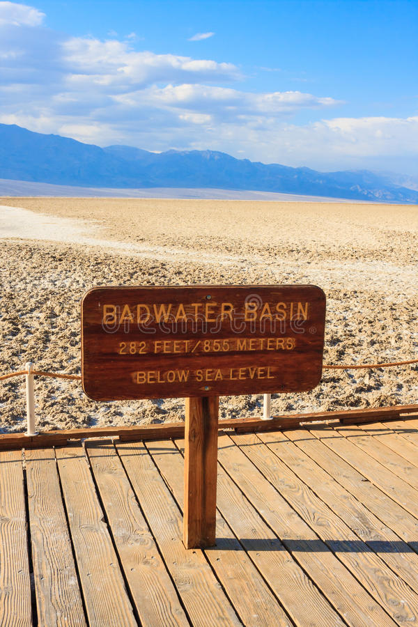 Badwater Basin, Death Valley National Park, California. Badwater Basin is the the lowest point in North America, Death Valley National Park, California, USA royalty free stock photography