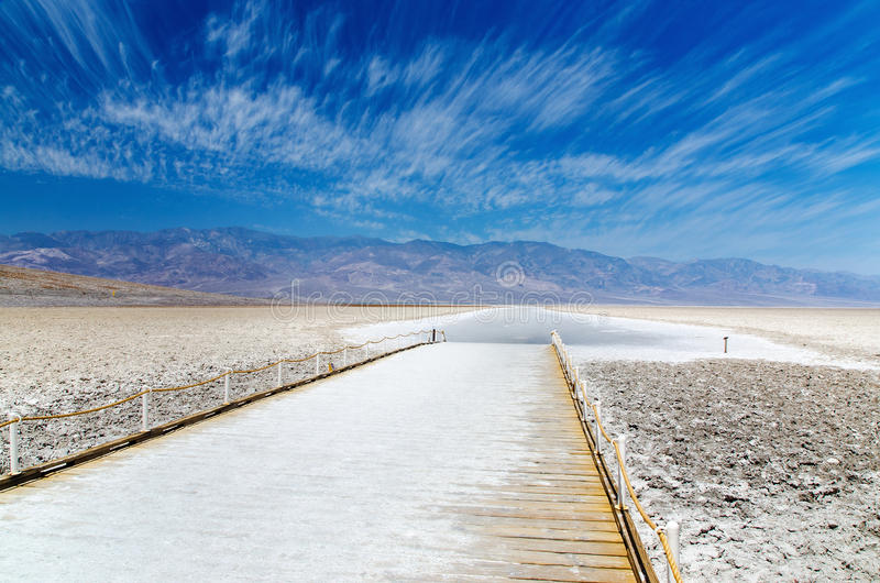 Badwater Basin in Death Valley royalty free stock images