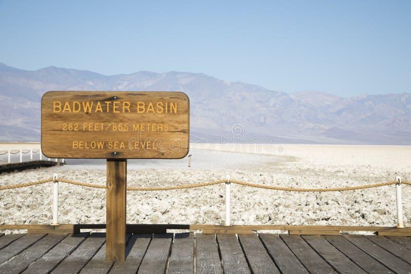 Badwater Bassin in Death Valley lizenzfreie stockfotos