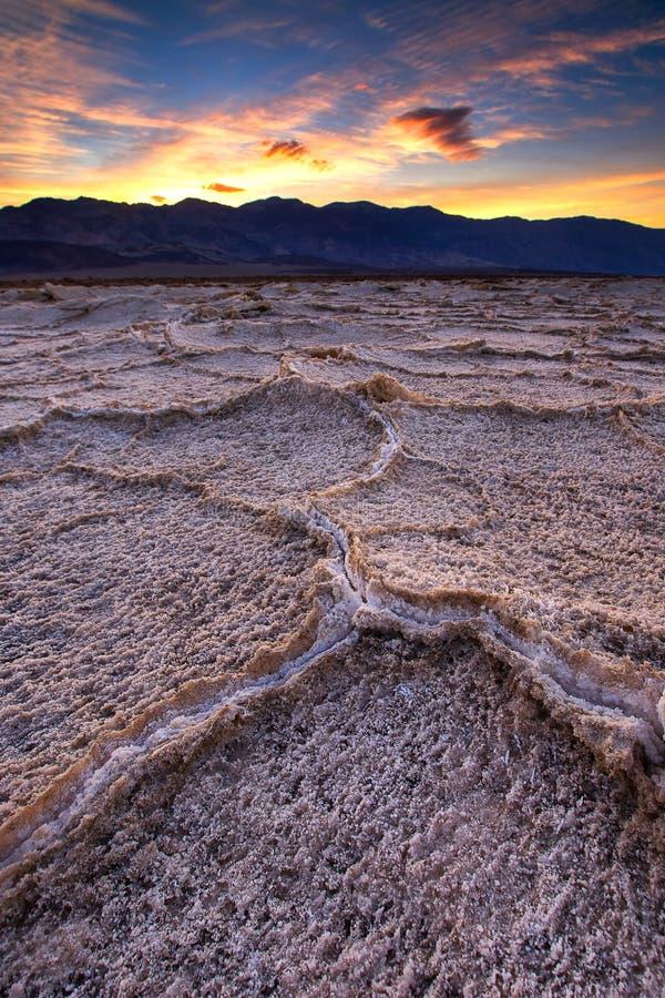 Badwater-Becken, Death Valley, Kalifornien, USA lizenzfreie stockbilder