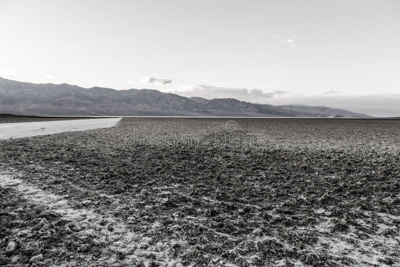 Badwater blanco y negro imagen de archivo libre de regalías