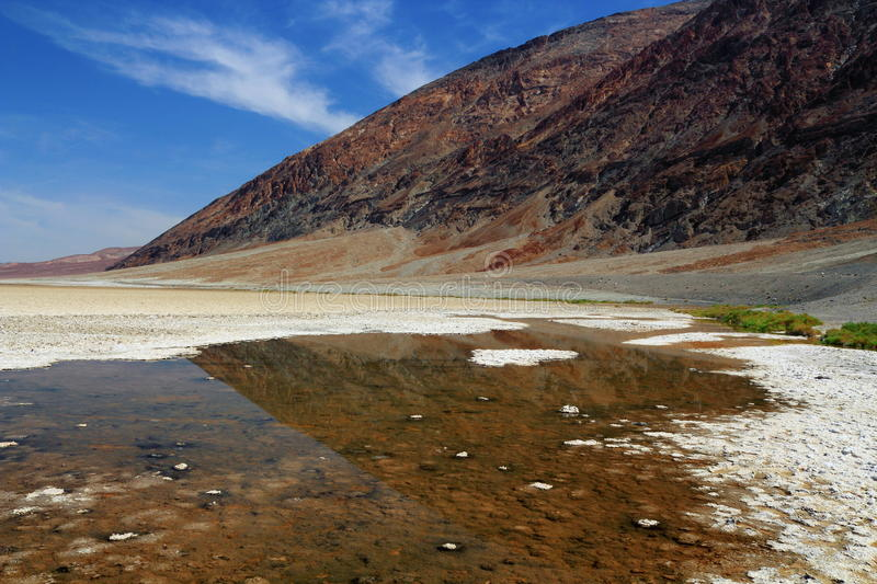 Badwater en parc national de Death Valley, la Californie photos stock