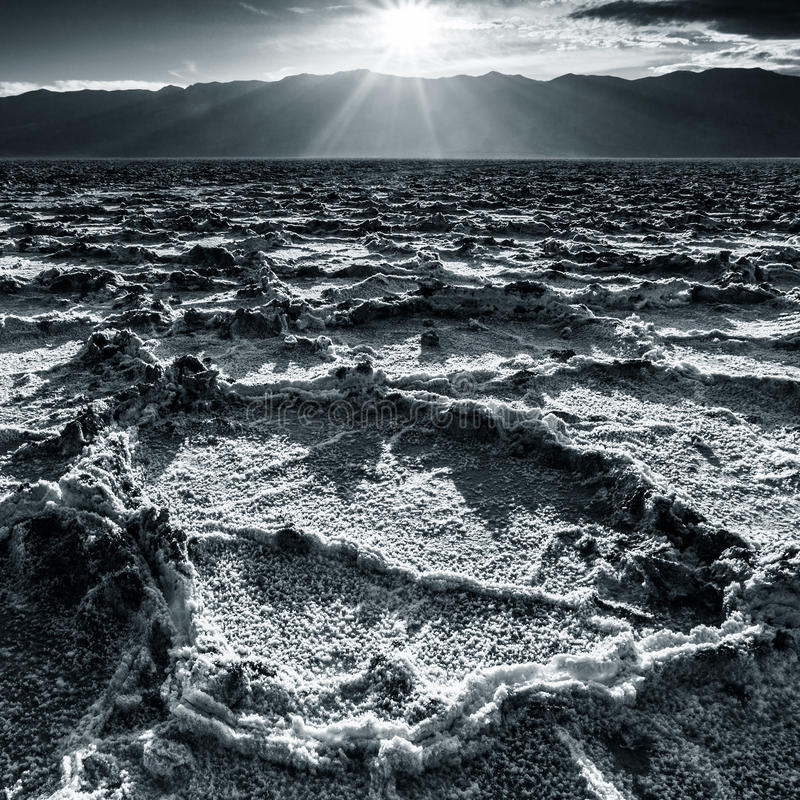 Badwater Landscape royalty free stock photo