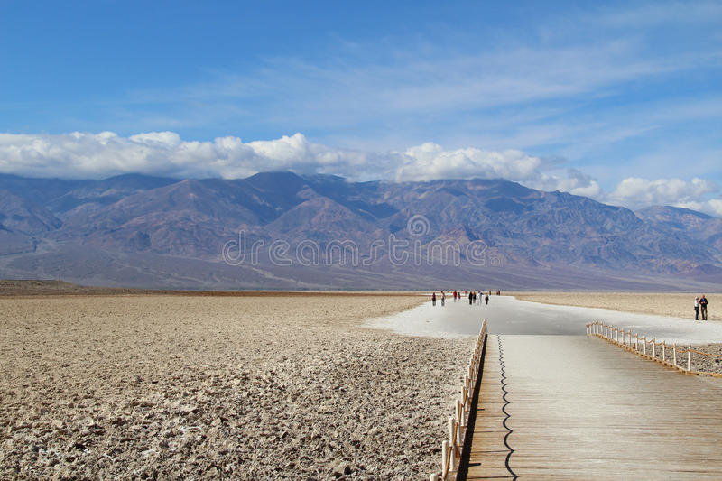 Badwater no parque nacional de Vale da Morte fotografia de stock