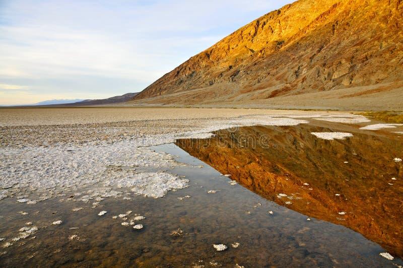 Badwater, o Vale da Morte fotos de stock