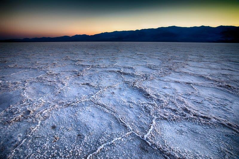Badwater, parc national de Death Valley, la Californie photo stock