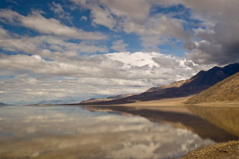 Badwater Reflexion lizenzfreies stockfoto